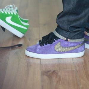 Nike Sb Blazer Purple Snakeskin